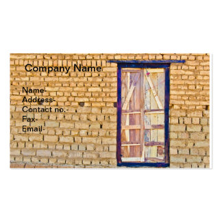 Raw brick-wall pattern with wooden door pack of standard business cards