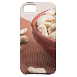 Raw cashew nuts for vegetarian food closeup iPhone 5 cover