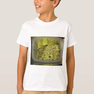 Raw chopped pistachios in a plastic food pan T-Shirt