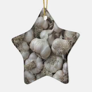 Raw Garlic Seasoning Healthy Food Wallpaper Ceramic Star Decoration
