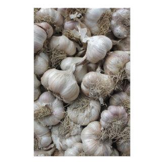 Raw Garlic Seasoning Healthy Food Wallpaper Customised Stationery