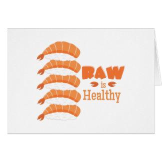 Raw Healthy Card