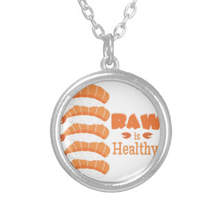 Raw Healthy Silver Plated Necklace