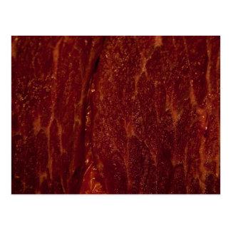Raw meat postcard