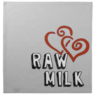Raw Milk Love Cloth Napkin