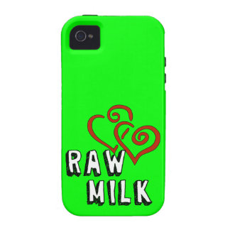 Raw Milk Love iPhone 4 Covers
