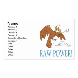 Raw Power Pack Of Standard Business Cards