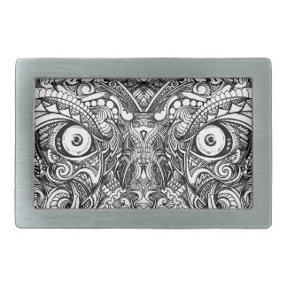 Raw Rough Mean Angry Evil Eyes Sharp Detailed Hand Belt Buckles
