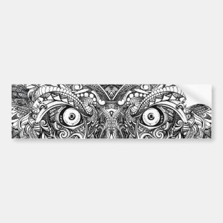 Raw Rough Mean Angry Evil Eyes Sharp Detailed Hand Bumper Sticker