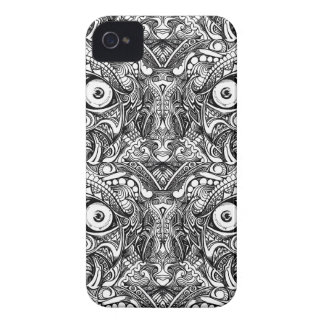 Raw Rough Mean Angry Evil Eyes Sharp Detailed Hand iPhone 4 Case