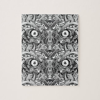 Raw Rough Mean Angry Evil Eyes Sharp Detailed Hand Jigsaw Puzzle