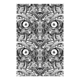 Raw Rough Mean Angry Evil Eyes Sharp Detailed Hand Stationery