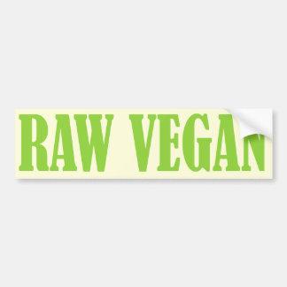 RAW VEGAN bumper sticker