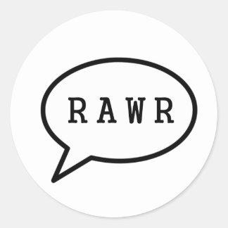 Rawr Classic Round Sticker