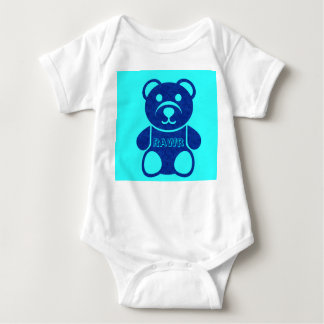 Rawr  (Different colors) Baby Bodysuit