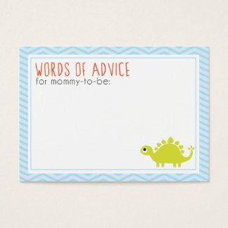 Rawr! Dino Baby Shower Mommy Advice Cards