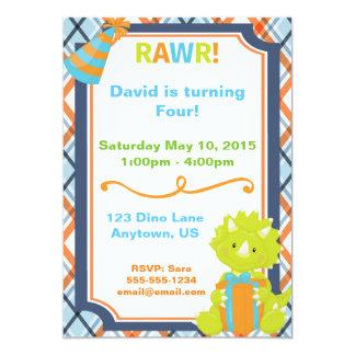 RAWR! Dino Party Birthday Invitation