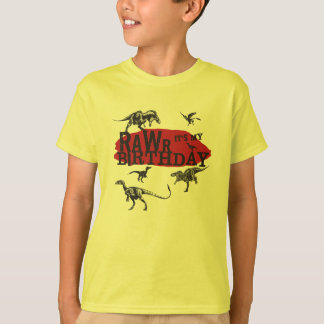Rawr Dinosaur Birthday Shirt