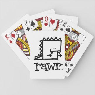 Rawr Dinosaur Meepple Playing Cards