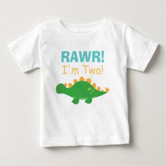 Rawr, I am Two, Cute Dinosaur for Babies T-shirts