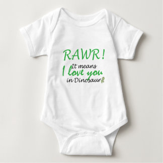 Rawr - I love you Baby Bodysuit