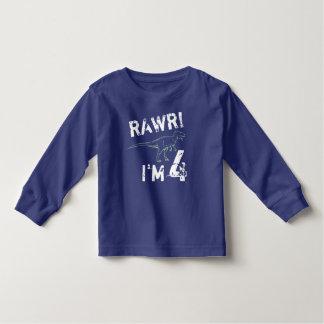 RAWR! I'm 4 - Dinosaur Birthday Shirt for Boys
