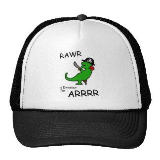 RAWR is Dinosaur for ARRR (Pirate Dinosaur) Mesh Hat