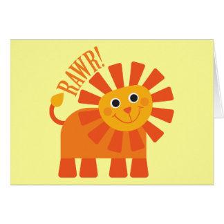 Rawr Lion Card