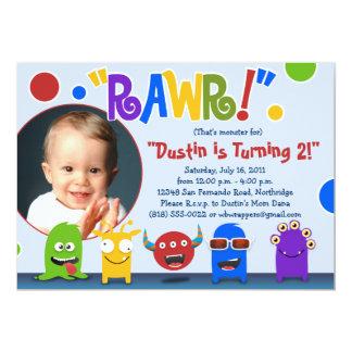 Rawr!  Little Monster Birthday Party Invitations