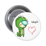 Rawr means love pinback button