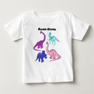 """Rawr-Some"" Girl Dinosaur Tee"