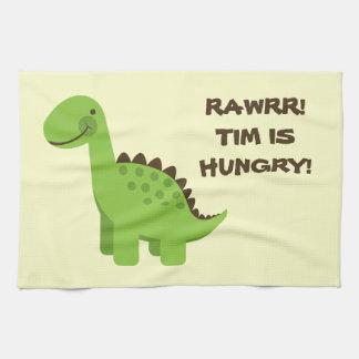 Rawrr! Hungry Dinosaur! Tea Towel