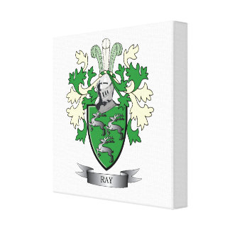 Ray Family Crest Coat of Arms Canvas Print