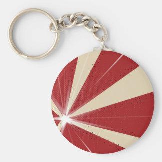 Ray Grunge Background Basic Round Button Key Ring