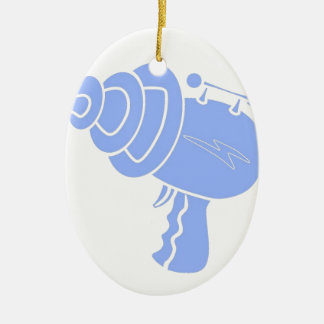 Ray Gun Ceramic Oval Decoration
