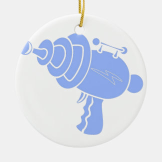 Ray Gun Round Ceramic Decoration