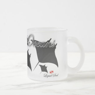 Ray of Blanket - to save our oceans Frosted Glass Coffee Mug