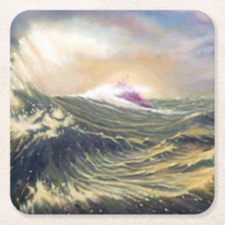 Ray of Light Square Paper Coaster