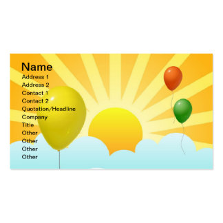 Ray of Sunshine Modern and Balloons Business Card