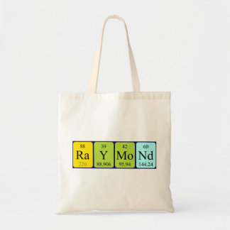 Raymond periodic table name tote bag