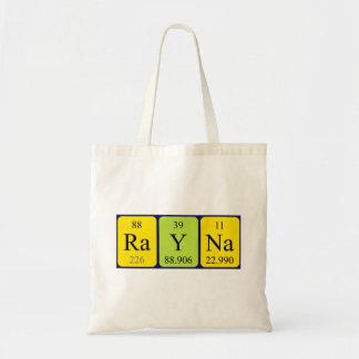 Rayna periodic table name tote bag