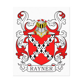 Rayner Coat of Arms II Stretched Canvas Print