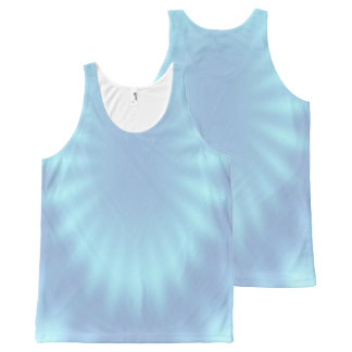 Rays gradients - light blue + your ideas All-Over print tank top