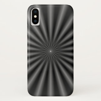 Rays in Black and White iPhone X Case