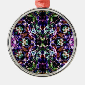 Rays of Light Abstract Silver-Colored Round Decoration