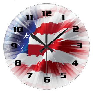 Rays Of Light American Flag Patriotic Wall Clock