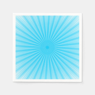 Rays Of Light Pattern Paper Napkins