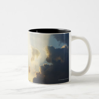 Rays Of Light Shining Through The Clouds Two-Tone Coffee Mug