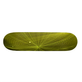 Rays of Psychedelic Electric Green Skate Boards
