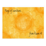 Rays of sunshine (Thank You) - Customised Post Cards